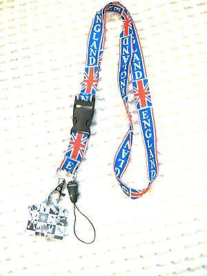 "United Kingdom/England 15"" lanyard for ID Holder & Mobile Devices Keychain-New!"