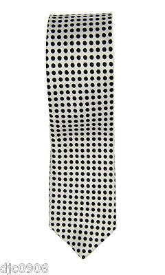 "Unisex Black with Black Small Polka Dots Neck tie 56"" L x 2"" W-Polka Dot Tie-New"