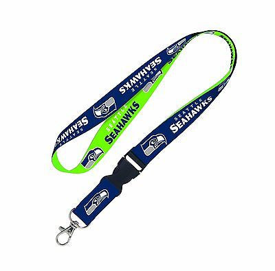 Seahawks  Blue Licensed NFL Keychain/ID Holder Detachable Lanyard-Brand New!