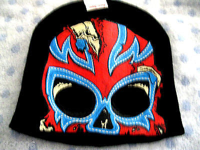 Wrestler Screen Print  Black Winter Knitted Skull Beanie Ski Cap -New with Tags!