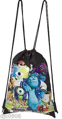 2 DISNEY MONSTERS UNIVERSITY DRAWSTRING BAG BACKPACK TRAVEL STRING POUCH