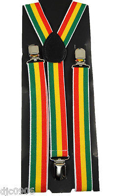 Rainbow Goth Unisex Men's Women's Design Gay Pride Adjustable Suspenders-NEW!VE2