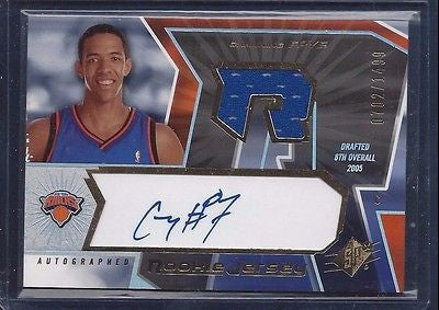 CHANNING FRYE RC 2005-06 SPX RC ROOKIE AUTO JERSEY 0702/1499 NEW YORK KNICKS