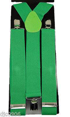 "Thick 1 1/2"" Dark Green Forest Green Y-Style Back suspenders-New in Package!"