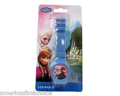 "Disney Kids' ""Frozen"" Anna and Elsa Digital Display Watch With Pink Rub-New!"