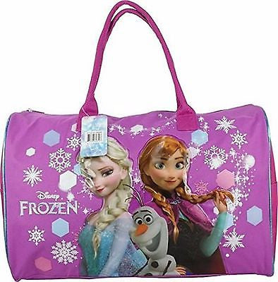Large Disney Frozen Elsa Anna Olaf Blue Shoulder Duffle Bag/Messenger Bag-New!