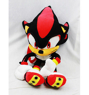 "Sega Sonic Supersonics Black Shadow Plush Backpack Tote 20"" NEW with Tags!"