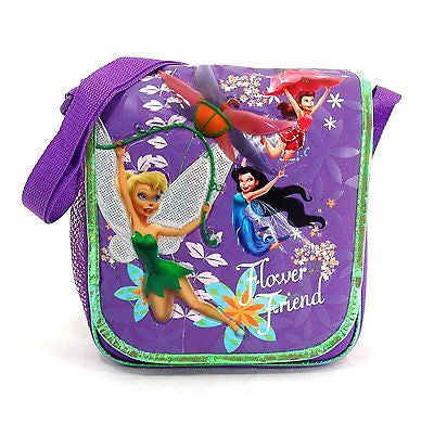 Tinkerbell and Fairies Friends Insulated Messenger Lunch Bag Lunchbox-New!