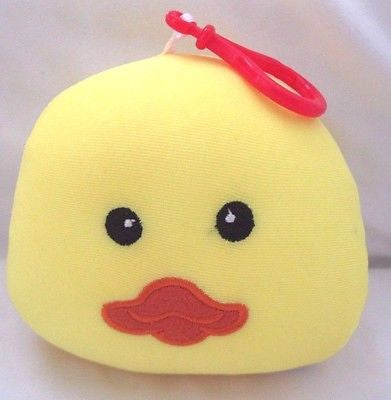 Snow Foam Micro Beads Duckling/Chickling Cushion/Pillow Backpack/Purse Clip-New!