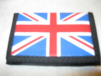 UK British England Red White Blue Canvas Velcro Wallet-New!British Flag Wallet
