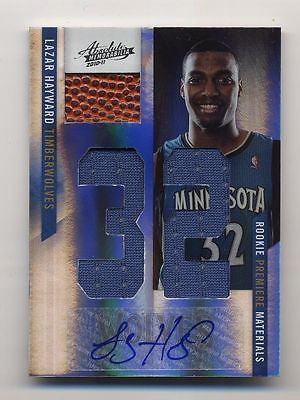 LAZAR HAYWARD 11-12 PANINI ABSOLUTE RPM ROOKIE AUTO BALL JERSEY PATCH CARD#13/25