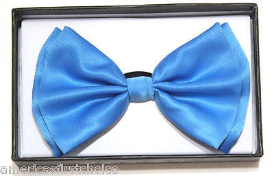 POWDER SKY BLUE TUXEDO ADJUSTABLE  BOW TIE BOWTIE-NEW IN GIFT BOX!BLUE BOW TIE