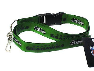 Seahawks Green Licensed NFL Keychain/ID Holder Detachable Lanyard-Brand New!