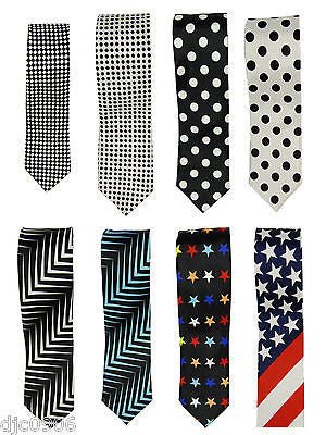 "Unisex Poker 4 of a kind Aces on a Black Neck tie 56"" L x 2"" W-Poker Tie-New!"