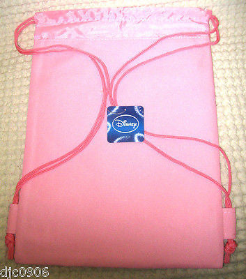 HAPPY MINNIE MOUSE HOT PINK DRAWSTRING BAG BACKPACK TRAVEL STRING POUCHES-NEW