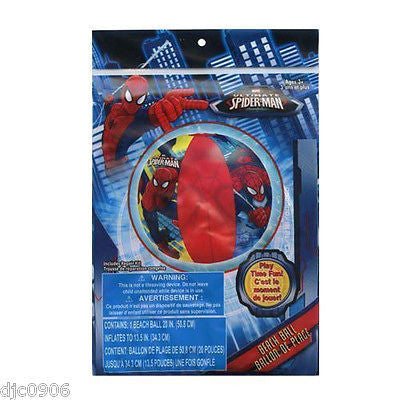 "Spider-Man Spiderman 20"" Beach Ball by Marvel-Marvel Beach Ball-New in Package!"