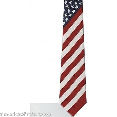 "12 US Patriotic American Flag Red,White,Blue Unisex Men's Tie Necktie 57""Lx 3""W"