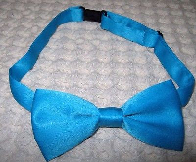 Kids Boys Girls Solid French Blue Adjustable Bow Tie-Children's Blue Bow tie-New