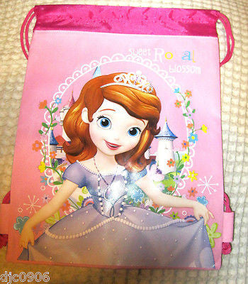 Disney Light Pink Little Princess Kid's Drawstring Backpack Tote Gym Bag-New!