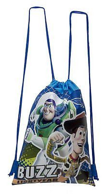 DISNEY TOY STORY WOODY BUZZ BLUE DRAWSTRING BAG BACKPACK TRAVEL STRING TOTE-NEW!