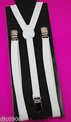 "Unisex Thin 3/4"" Hot Pink Adjustable Y-Style Back suspenders-Pink Suspenders"
