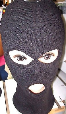 Beanie Full Face Red Skull face big teeth mask costume party halloween attire!