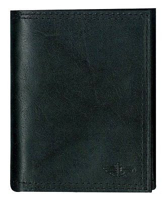 DOCKERS TRIFOLD BLACK LEATHER WALLET-BRAND NEW!