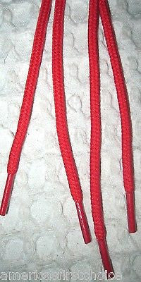 "Premium 54"" Round Bright Red Design Rockabilly Punk Shoe laces Shoelaces-New!"