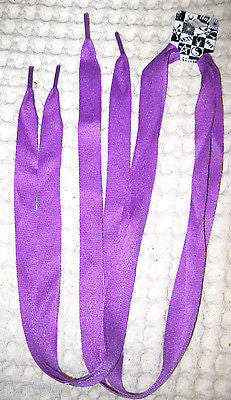 Premium Flat  Purple Rockabilly Punk Shoe laces-New with Tags!Purple Shoe laces