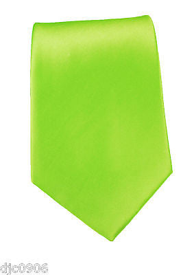 "Unisex Dark Green Forest Green Silk Feel Neck tie 56"" L x 3"" W-Green NeckTie-New"