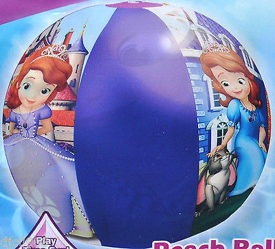 "Walt Disney Sofia the First Little Princess 20"" Beach Ball-Disney Beach Ball-New"