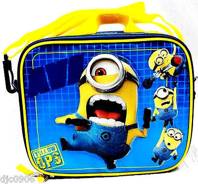 Despicable Me 2 Minions Stuart&Jerry Insulated Lunch Box Lunch Bag-New!