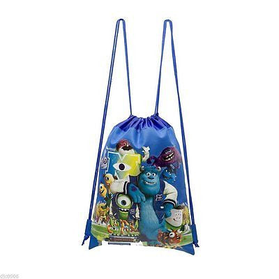 DISNEY MONSTER UNIVERSITY BLUE DRAWSTRING BAG TRAVEL BACKPACK DISNEYLAND-NEW