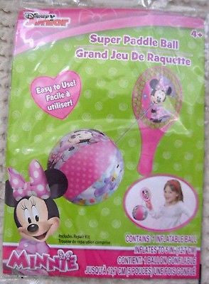 Walt Disney Mickey Mouse Minnie Mouse Pink Paddle Beach Ball-Brand New!