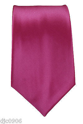 "Unisex Plum Burgundy Silk Feel Neck tie 56"" L x 3"" W-Burgundy Plum Tie-New"