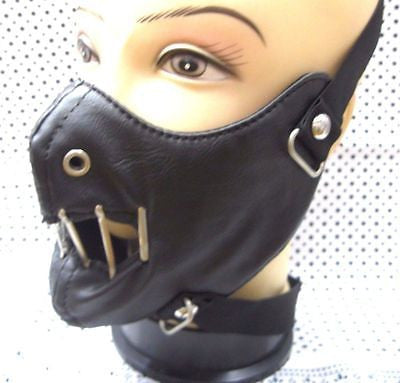 Hannibal Lector Black Wired Mouth Mask Motorcycle Goth Punk Bondage PaintBall-v2