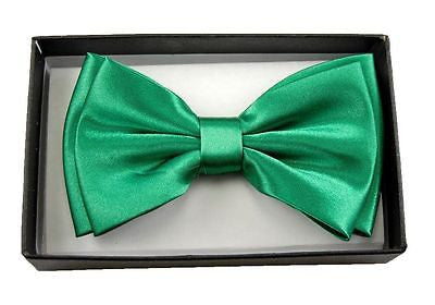 Unisex GREEN SHINY Tuxedo Classic BowTie Neckwear Adjustable Bow Tie-NEW IN BOX!
