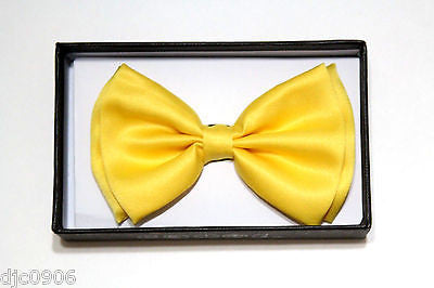 Unisex YELLOW Tuxedo Classic BowTie Neckwear Adjustable Bow Tie-New