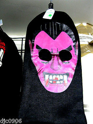 Beanie Full Face Purple Vampire Darcula face mask hair costume halloween attire