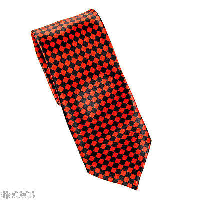 "Unisex Yellow & Black Checkered Checkers Diamonds Neck Tie 56"" L x 2 1/2"" W-New"