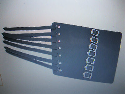 Leather 7 Buckle Gauntlet Wristband Wrist Band METAL,PUNK,GOTH,BIKER Styles