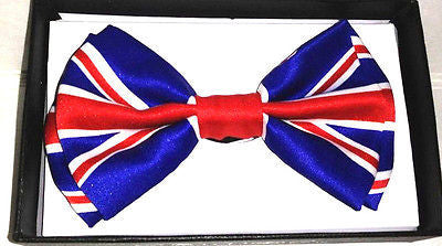 UNITED KINGDOM/ENGLAND ADJUSTABLE  BOW TIE-NEW GIFT BOX!