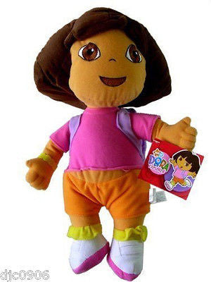 "Dora the Explorer 12"" Plush Doll Wearing yellow&pink Shirt Soft Stuffed Toy-NEW!"