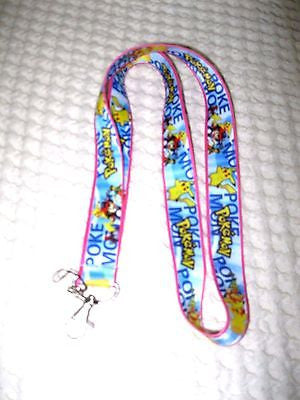 Pokemon Yellow Lanyard ID Holder-Pokemon Pikachu Yellow Lanyard-Brand New!