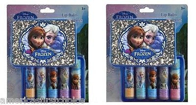Disney Frozen Anna and Elsa 2 Piece Lip Balm with Matching Carring Case Play Set