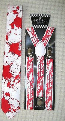 Paint Splattered Paint Ball Adjustable Bow Tie,Neck Tie, &Y-Back Adj Suspenders