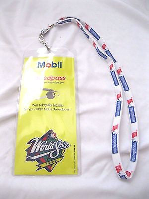 "1998 World Series Yankees vs. Padres 15"" Mobile lanyard  with ID Holder-New!"