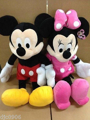 "DISNEY 17"" MICKEY MOUSE & MINNIE MOUSE COMBO PLUSH TOYS-LICENSED STUFFED TOY"