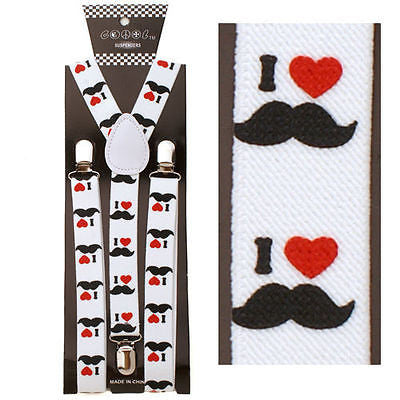 I love my Mustache Design Stache SUSPENDERS Y-Back Adjustable Suspenders-New!