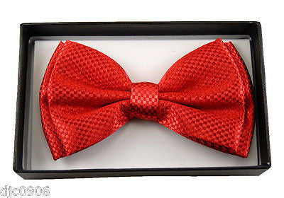 NAVY BLUE DIAMOND MESH PATTERN  ADJUSTABLE  BOW TIE-BLUE BOW TIE NEW IN BOX